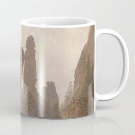 Caspar David Friedrich - Rocky Lanscape in the Elbe Sandstone Mountains Coffee Mug