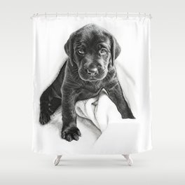 Time for snuggles in my blanket Shower Curtain