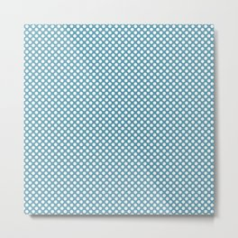 Hippie Blue and White Polka Dots Metal Print