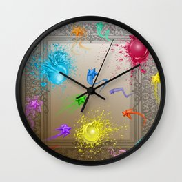 Stars and Paint Wall Clock