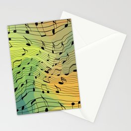 Music notes II Stationery Cards