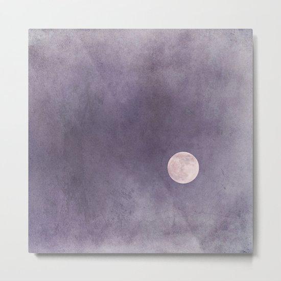 purple moon Metal Print