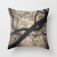 shadow Throw Pillows featuring Shadow by Maria Heyens