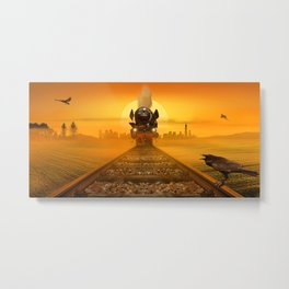 Steam Train in the evening light Metal Print