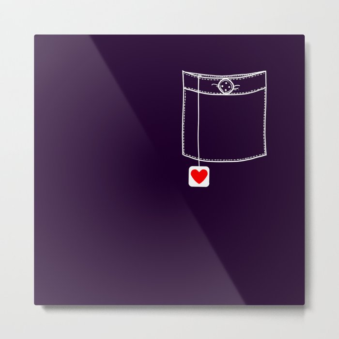 Pocket Full of Love Metal Print
