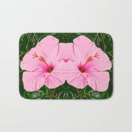 Hibiscus Duo - Pink Flowers Bath Mat