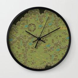 Earthbound Lost Underworld Map Wall Clock