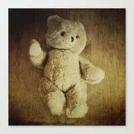Old Teddy Bear Canvas Print