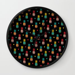 Pineapples! Wall Clock