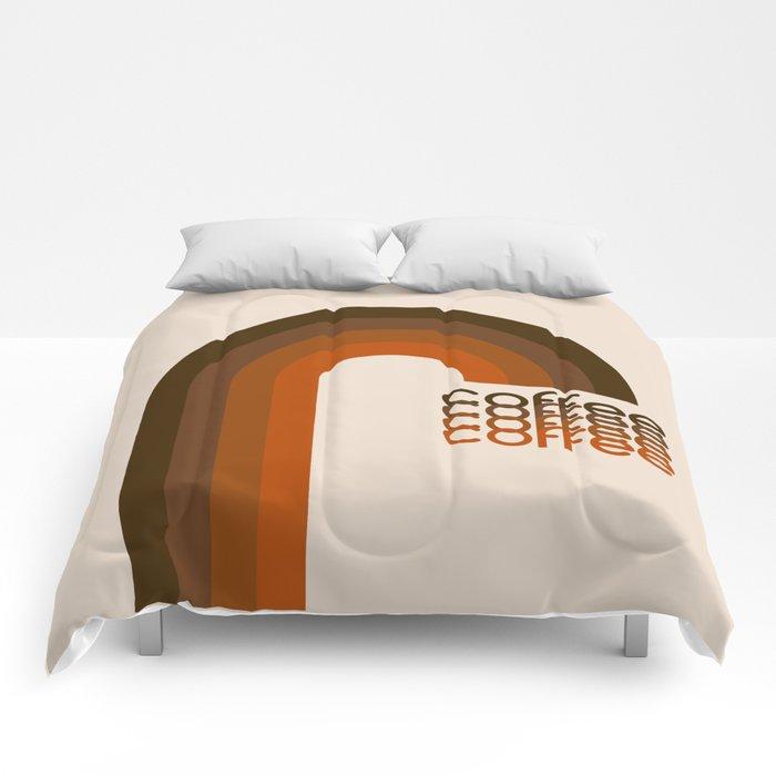 Cocoa Coffee Rainbow Comforters