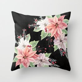 Poinsettia Throw Pillow
