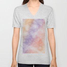Rainbow marble texture 1 Unisex V-Neck