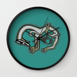 Celtic Badger Letter M Wall Clock