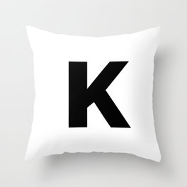 K Throw Pillow