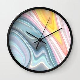 Marble Waves Wall Clock