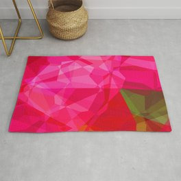 Pink Roses in Anzures 1 Abstract Polygons 3 Rug
