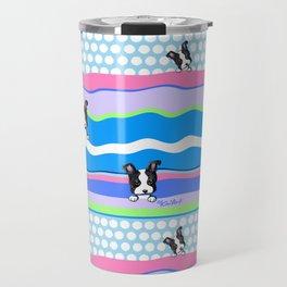 KiniArt Boston Puppies Travel Mug