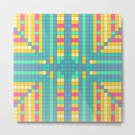 Pixel Perfect Metal Print