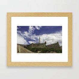 Victor in the sky Framed Art Print