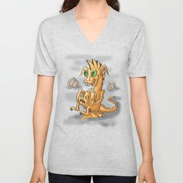 Pumpkin dagon by Dreaingsenga Unisex V-Neck