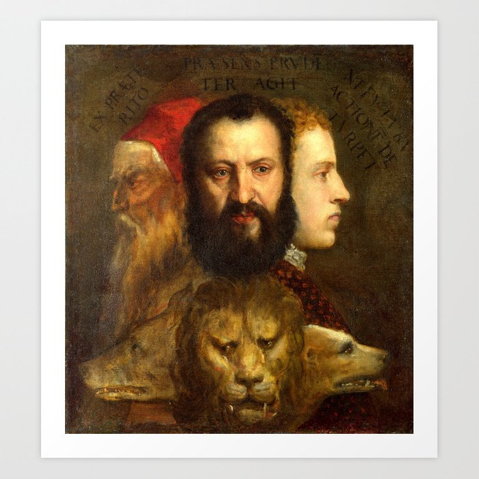 Titian The Allegory of Prudence Art Print