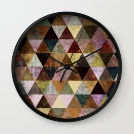 Abstract #399 Peat Bog Grunge Wall Clock