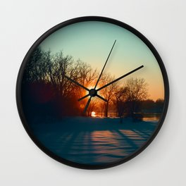 Winter Floyd Wall Clock