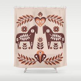 Scandinavian Folk Art II Shower Curtain