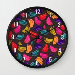 Bananas Coloridas Wall Clock