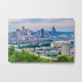 Over Cincinnati 02 Metal Print