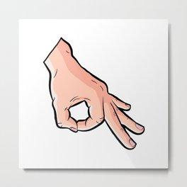 The Circle Game Ok Emoji Meme Metal Print