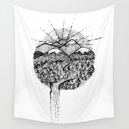 Utopian Hills Wall Tapestry