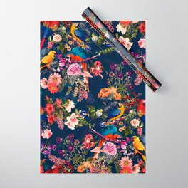 FLORAL AND BIRDS XII Wrapping Paper