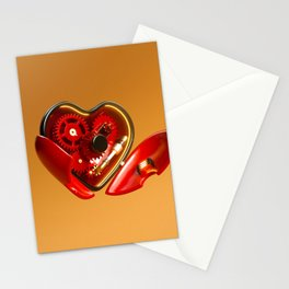 Clockwork Heart Stationery Cards