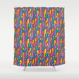 gusanitos Shower Curtain
