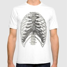 Vector Ribcage White MEDIUM Mens Fitted Tee