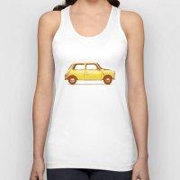 mini cooper Tank Tops featuring Famous Car #1 - Mini Cooper by Florent Bodart / Speakerine