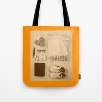 alex vause Tote Bags featuring If I Were Alex Vause (2) by Zharaoh