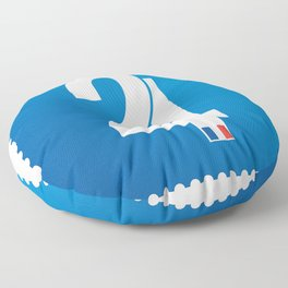 Stamp series - 24 Le mans Floor Pillow