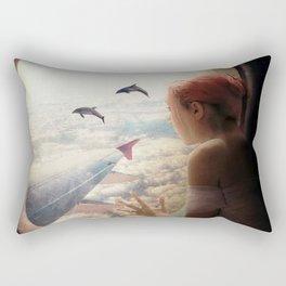 On My Way to Paris Rectangular Pillow