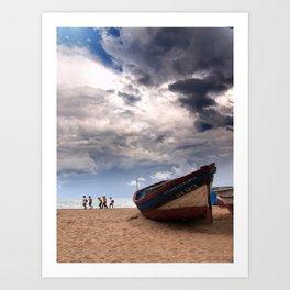Una barca Art Print