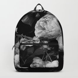 Roses are black and white Backpack