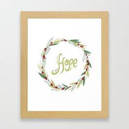 Wreath of hope Framed Art Print