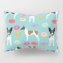 Rat Terrier donuts dog breed pet portrait dog pattern dog breeds gifts for dog lovers Pillow Sham
