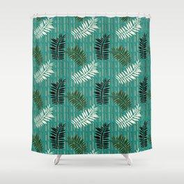Ferns on Jade Shower Curtain