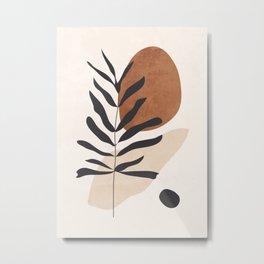 Abstract Art /Minimal Plant 12 Metal Print