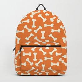 Halloween Print - Skeleton Bones Pattern - Orange And White - Creepy / Spooky / Fall Backpack
