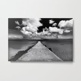 Isle Of Barra Jetty, Outer Hebrides, Scotland Metal Print