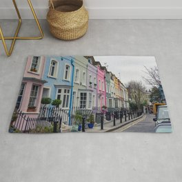 Chelsea Row Houses home of George Smiley in Chelsea London England Rug