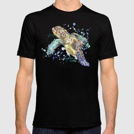 Sea Turtle Pura Vida Watercolor T-shirt
